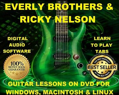 Everly Brothers 230 & Ricky Nelson 214 Guitar Tabs Software Lesson CD & 30 BTs