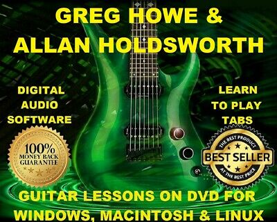 Greg Howe 43 Allan Holdsworth 37 Guitar Tabs Software Lesson CD 29 Backing Trax