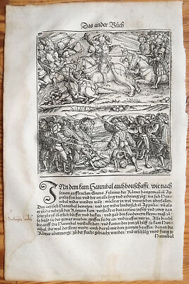 Livius History of Rome Post Incunable Woodcut Schoeffer (139) - 1530