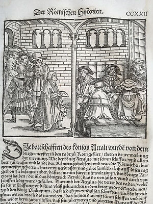 Livius History of Rome Post Incunable Woodcut Schoeffer (222) - 1530