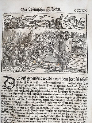 Livius History of Rome Post Incunable Woodcut Schoeffer (230) - 1530