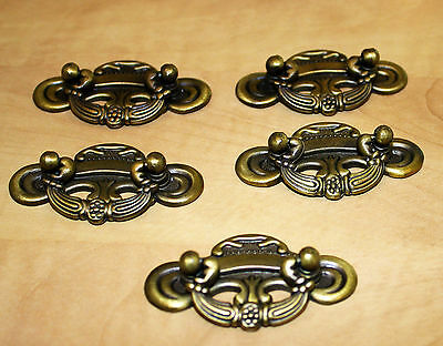 Antique Door Knobs Latches Collectible Lot Of 5 Brass