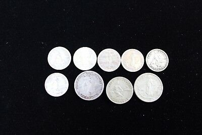 Philippines 9 assorted coins   lot H 325
