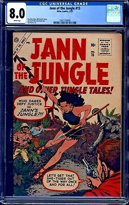 Jann of the Jungle #15 CGC 8.0