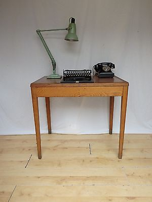 Small Ministry Oak old School Vintage  Antique Library Table Desk