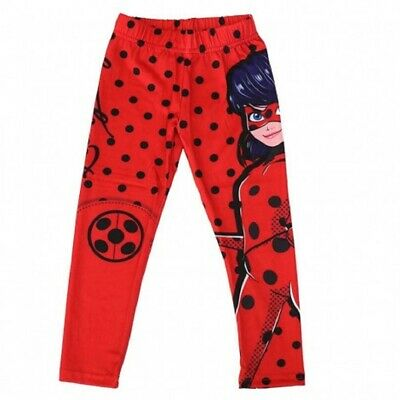 Girls Miraculous Ladybug Legging Stretchy Tight Pants Age 4-10 Years