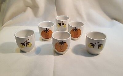 Vintage Swinnertons Nestor Vellum Harvest  SIX Egg cups very rare Pattern 5054
