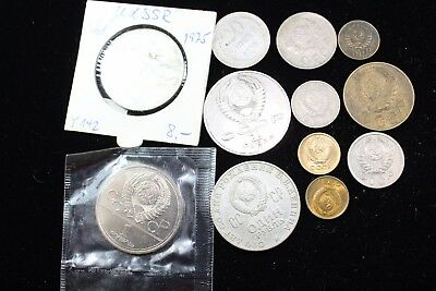 CCCP - Russian 12  assorted coins   lot H 418