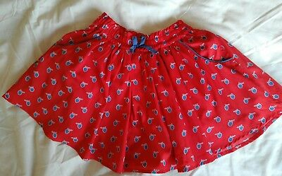 Girls NEXT Red Skirt Age 12-18 Months. Immaculate!