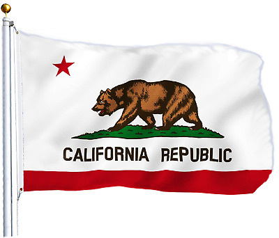 3'x5' Polyester CALIFORNIA STATE FLAG CA USA Bear Republic Outdoor Banner