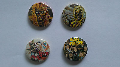 Iron Maiden music buttons vintage SMALL BUTTON set 3