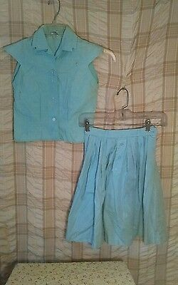 Vintage 1950-60's Girls Classic Skirt and Sleevless Top- Needs Help !