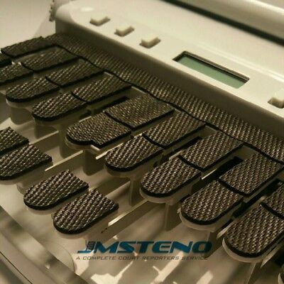 Steno Writer Textured Rubber Keytop covers