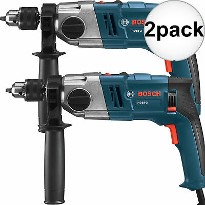 Bosch Tools HD18-2-RT-2 2x 1/2'' 2-Speed Reconditioned Hammer Drill Kit New