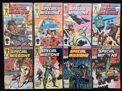 G.I. JOE SPECIAL MISSIONS Lot of 8 Marvel Comic Books - #2 3 5 9 11 13 23 25!