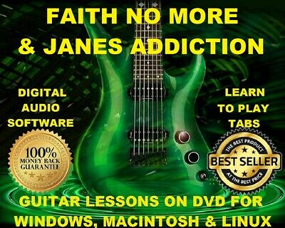 Faith No More 124 & Jane's Addiction 88 Guitar Tabs Software Lesson CD & 23 BTs