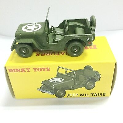 Alloy Diecast Car Model Miniatures Dinky Toys 24M 24 M Jeep Militaire Green 1/43