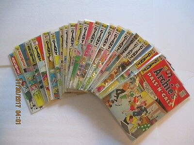 Lot Of (21) Archie's Pals 'n' Gals Comic Books Silver/bronze Age