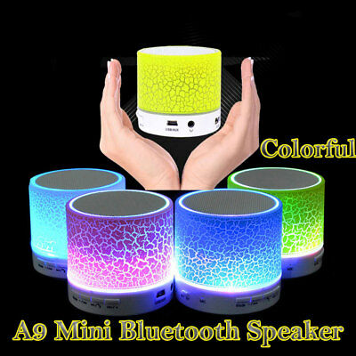 Mini Altavoz Bluetooth inalámbrico Portátil recargable LED luz MP3 iPhone/iPad