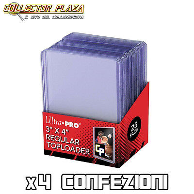 x100 TOP LOADER (x4 conf. da 25) Rigido Proteggi Carte Cards Pokemon Magic Fow