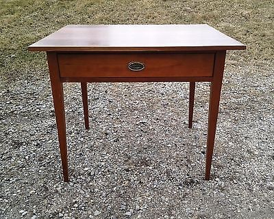 Antique Work Table 19th Century Sheraton Cherry Circa 1840