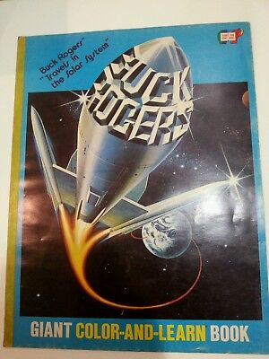 Huge Rare Vintage Buck Rogers 1970's Color Book Comic 22 X 17 Never Colored