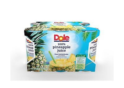 Dole 100% Juice Pineapple 6 Ounce Cans (Pack of 48) 6 Ounce (Pack of 48)