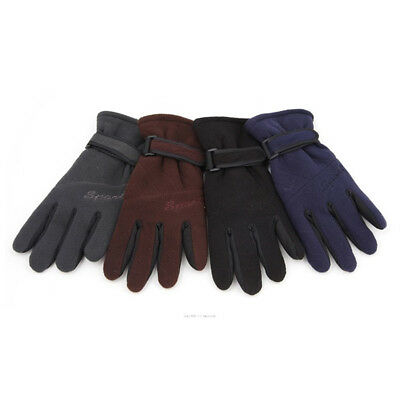 Mens Thin Light Warm Knit Thermal Liner Cold Weather Winter Gloves 4 Colors