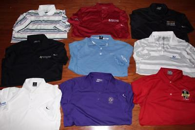 Lot Of 9 Nike Dri-Fit Adult Mens Golf Polo Shirts Tour Performance All Medium