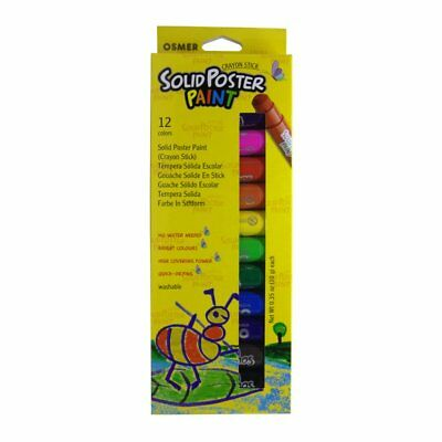 Osmer Solid Poster Paint Crayon Sticks 12 pack