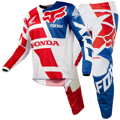New FOX Racing MX 2018 180 HONDA RED Mens Motocross Jersey & Pants Outfit