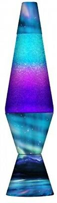 14.5in Colormax Lava Lamp, Northern Lights Glitter Decor Multicolor Gifts New
