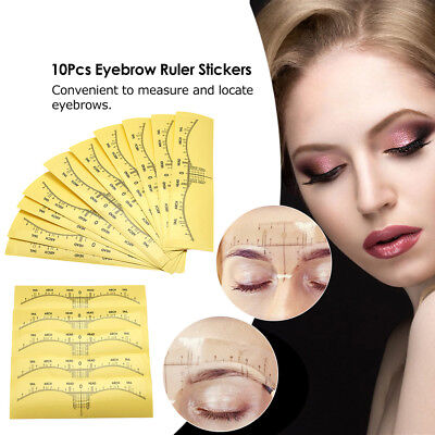 Microblading Disposable Eyebrow Ruler Sticker Tattoo Microblade Measure Tool E4R