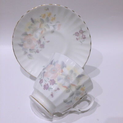 🌟 Duo Tea Cup & Saucer Duchess Bone China Pastel Dog Roses