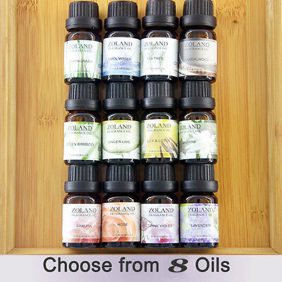 15 Scent Soluble Oil 100% Pure & Natural Fruit Plant Essential Oils Water 10ml