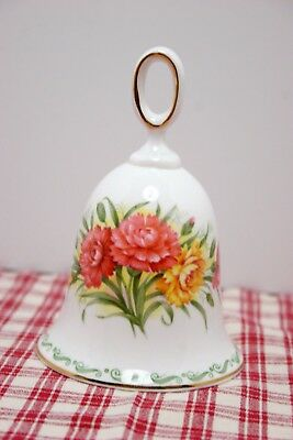 "Rosina - Queens Bone China Special Flowers CARNATION 4 1/2"" Bell, MINT!"