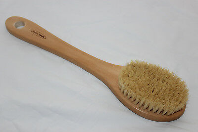 Natural Cactus Firm bristle exfoliate Dry/Wet Body Brush with 35cm Long Handle