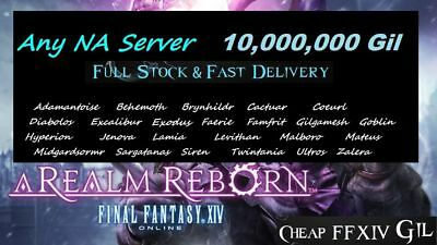 [ Most NA Servers ] Final Fantasy XIV - 10 Million GIL  FFXIV 10M PC PS4 10000K