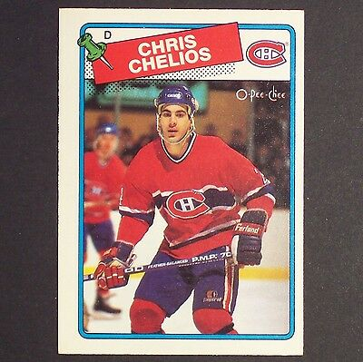 CHRIS CHELIOS 1988/89 OPeeChee #49 Montreal Canadiens Single