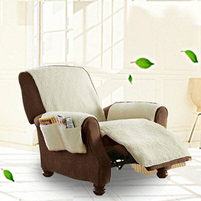 Sobakawa Natural Snuggle Up Poly Fleece Recliners Cover Remote Control Organizer
