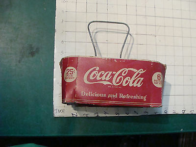 vintage Original COCA-COLA paper 6 pack holder 25cent pat 2371317 --1941