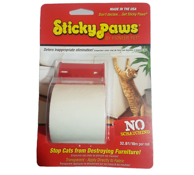 STICKY PAWS® On-A-Roll® 10m Stops Cats From Destroying Furniture!