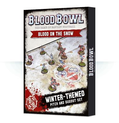 Blood Bowl - Blood on the Snow Pitch and Dugouts Games Workshop Playmat 200-10