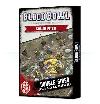 Blood Bowl - Goblin Pitch and Dugouts Games Workshop Playmat 200-25 Spielfeld