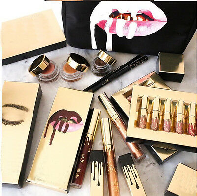 Beauty 6Pcs Gold Makeup Matte Liquid Lipstick Waterproof Lip Gloss Brithday