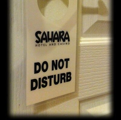 ☀SAHARA Casino Hotel Las Vegas DO NOT DISTURB SIGN SLS☀