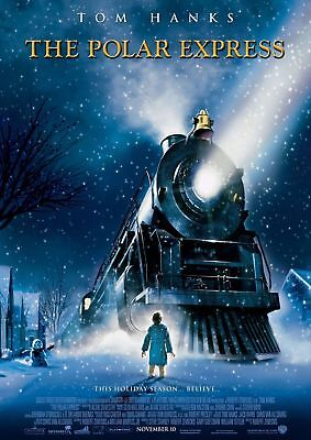 "POLAR EXPRESS 2004 Original Final DS 2 Sided 27x40"" US Movie Poster Tom Hanks"