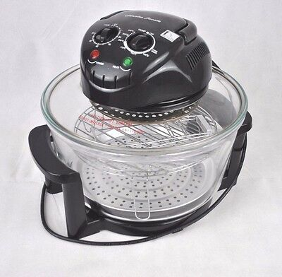 Charles Jacobs 17 Litre Glass Analogue Halogen Oven Convection Cooker Black Used