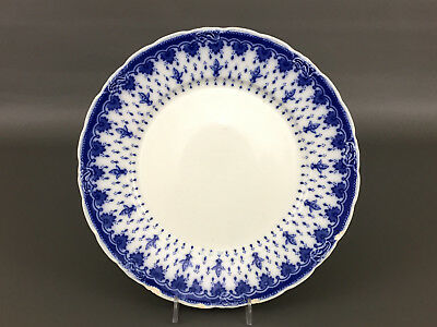 Antique Semi-Porcelain dinner plate FLEUR-DE-LIS flow blue Ju0026C Meakin 1890u0027s & ANTIQUE SEMI-PORCELAIN DINNER plate FLEUR-DE-LIS flow blue Ju0026C ...