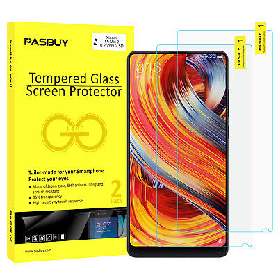 PASBUY® 2 Pack Japan Glass Tempered Glass Screen Protector for Xiaomi Mi Mix 2